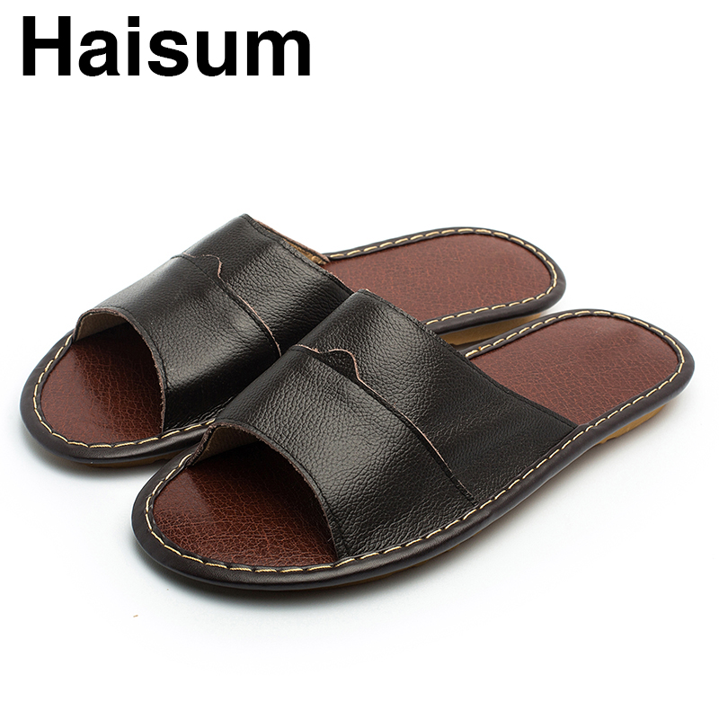 Overseas warehouse---Men's Slippers Spring And Summer genuine Leather - Men's Shoes - Photo 2