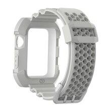 цена на 42mm 38mm Silicone Strap Watch Case For Apple Watch band Sport wrist watch Belt Bracelet Wrist Watchbands for iwatch 3/2/1