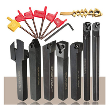 7pcs 12mm Mini Micro Cnc Tool Set Shank Lathe Turning Tool Holder Boring Bar Insert Wrench Kit Lathe Instrument Machine Clamp cnc press brake machine punch clamp and die holder