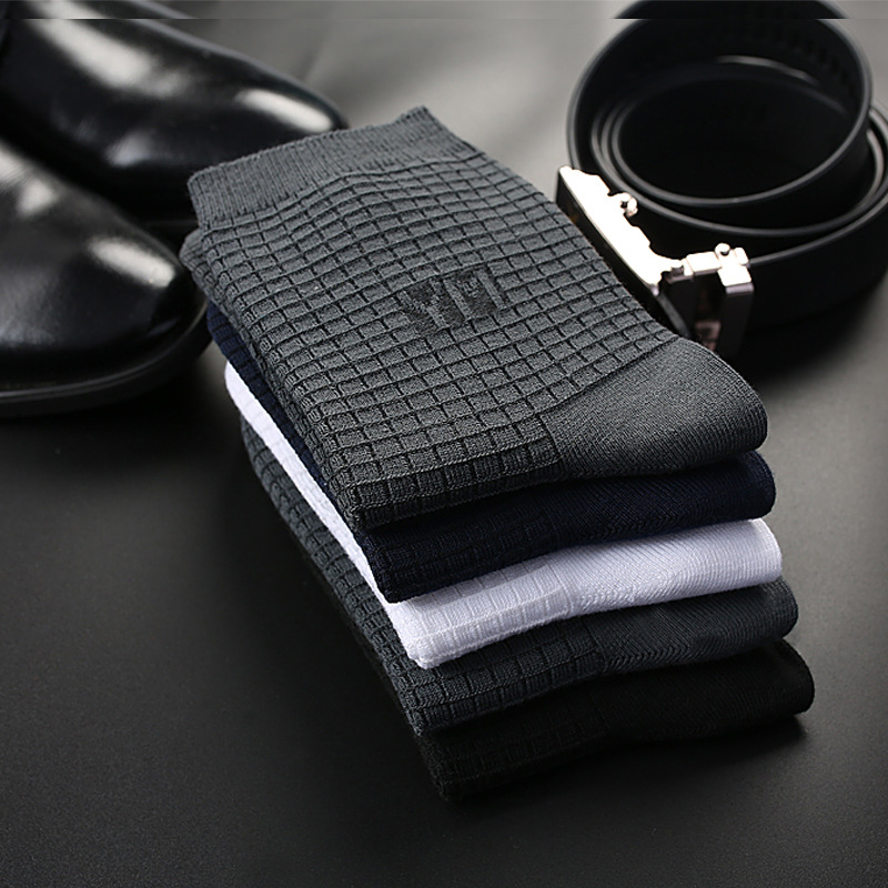 Men Cotton Socks Brand New Casual Business Anti-Bacterial Deodorant Breatheable Man Solid Color Sock