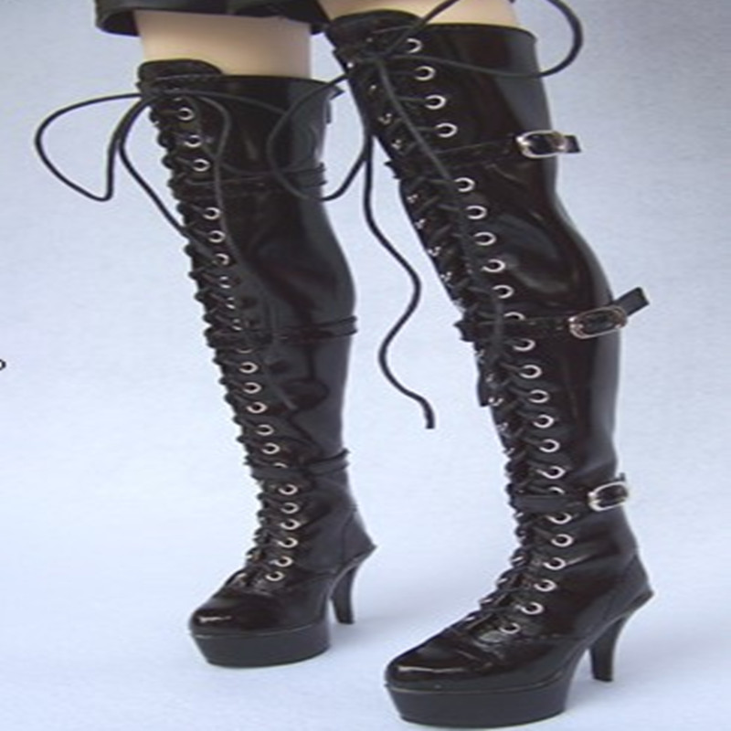 1/3 Bjd black high-heeled boot the queen boots sd luts dz aod as bjd bb black high leather boots for 1 6 yosd super dollfie luts dod as dz doll shoes sb16