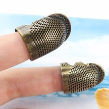 Retro Handworking Sewing Thimble Finger Protector Ring Needle Metal Brass Needles Accessories