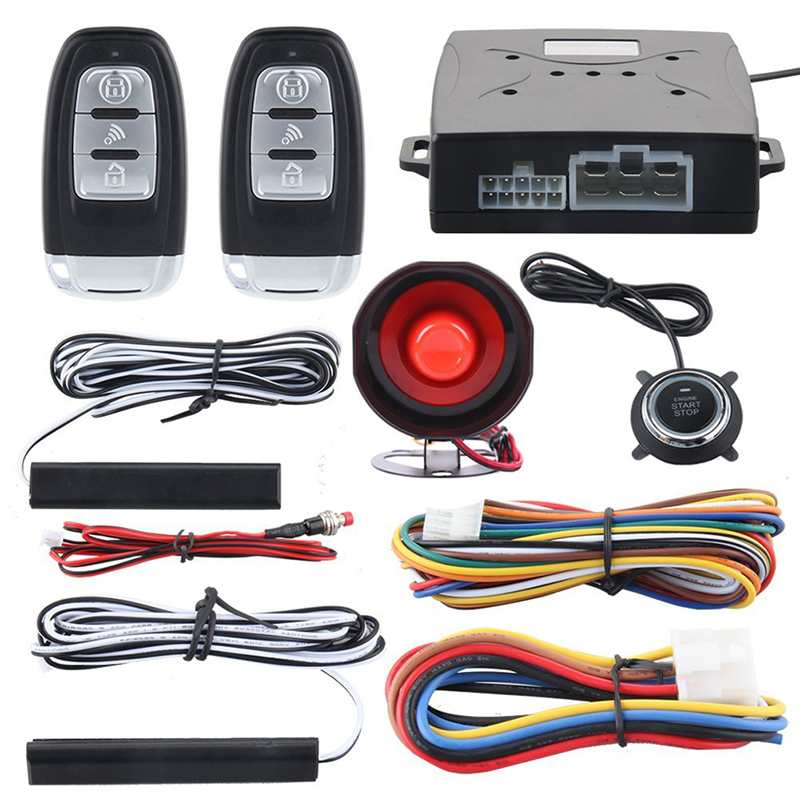 A set Car Engine Remote keyless entry&push start Alarm system Remote push button start Security Start System Kit 12V car alarm system keyless anti theft car system pke car alarm system smart remote control for toyota