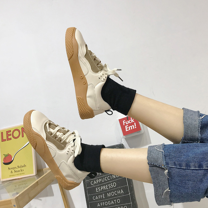 2019 Women Sneakers Leather Hook Loop All Match Female Casual Shoes Concise Style Lady White Shoes Students New Fashion 35-39 22