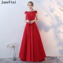 6a3428979 JaneVini Vestidos rojo elegante más tamaño perlas madre de vestido de novia  2018 satén una línea de barco cuello de encaje vesti.