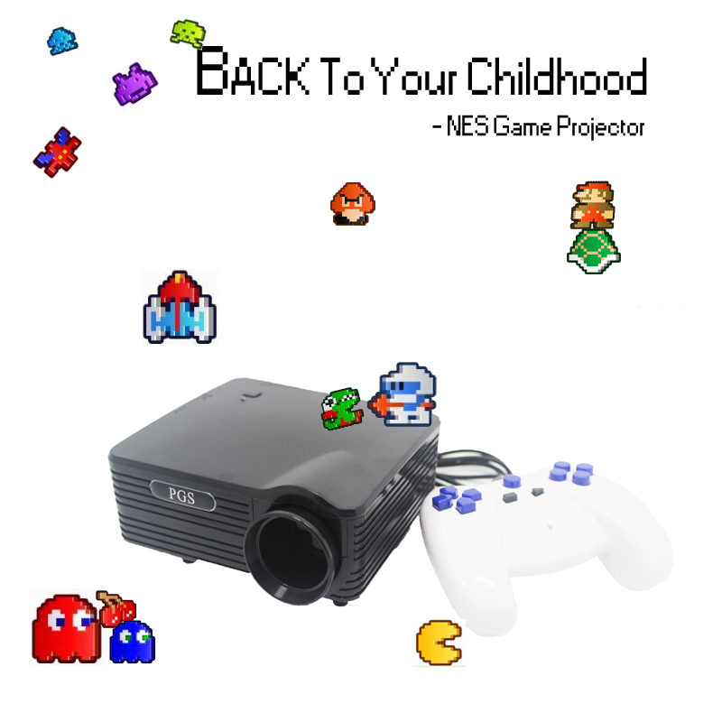 500Lumen 3meter project 8bit Projector video game console with 180 games built in
