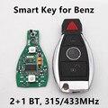 2 + 1 Botones Smart Car Dominante Alejada 315 MHz/433 MHz para Mercedes Benz Año 2000 + NEC BGA de Entrada Sin Llave de Control