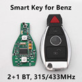 2+1 Buttons Car Smart Remote Key 315MHz/433 MHz for Mercedes Benz Year 2000+ NEC BGA Keyless Entry Control