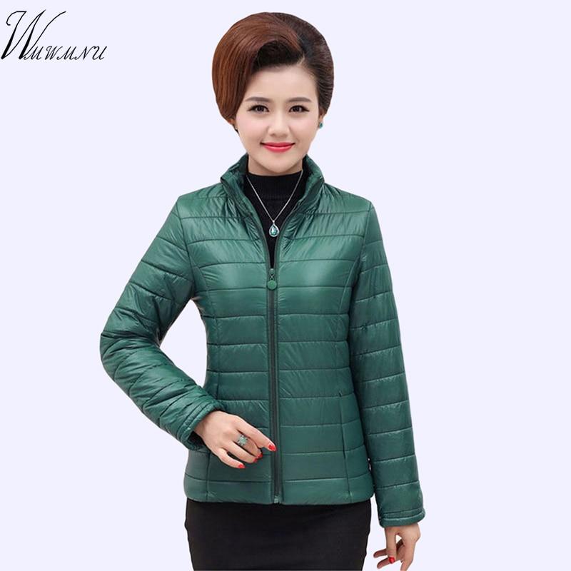 5XL Plus size Casual ultra light short jacket Winter jacket Women Snow wear fashion thicken   parka   female 2018 warm coat overcoat