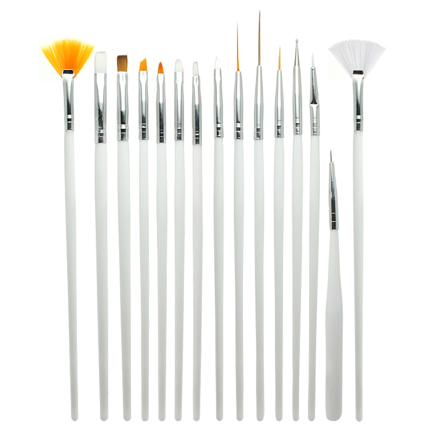 15pcs set nail art design brush gel painting pen nail for Avon nail decoration brush