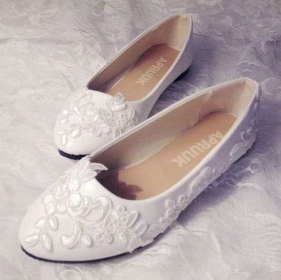 Us 420 Lace Wedding Shoes White Color Fashion Handmade Best Match To Dress Woman Brides Wedding Shoes Bridesmaid Maid Of Hornor Shoes In Womens