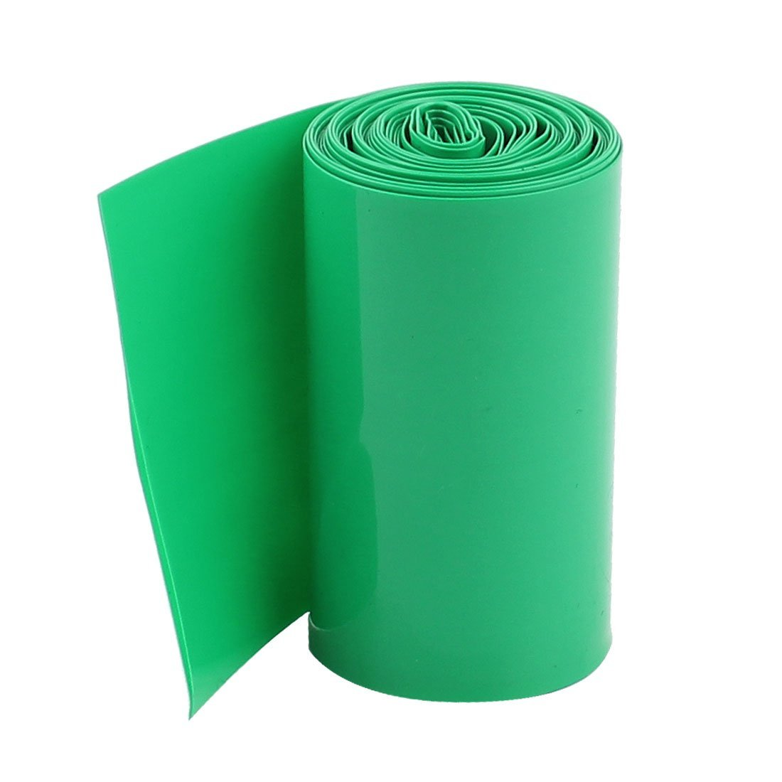 2M 50mm Dark Green PVC Heat Shrink Tubing Wrap for 2 x 18650 Battery