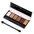 6 Colores Mate Paleta de Sombra de Glamour Sombra de ojos Smokey Maquillaje Profesional Kit Con 1 unids Dúplex Cepillo