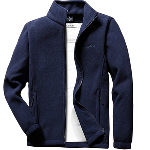 Image 5 - Мужская теплая флисовая куртка Anbican, повседневная весенняя куртка с воротником стойкой, пальто большого размера 6XL, 7XL, 8XL, 9XL, 2019