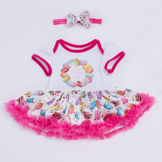 43efc13e2 YK&Loving cake baby girl clothes 0-2 year pink red Tutu dress toddler  cotton birthday party dress+handband set beauty lo