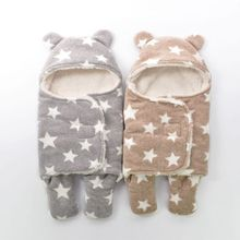 Baby Blankets Newborn Super Soft Autumn Winter Upset Babys Package Swaddling Baby Products Swaddle Wrap Nursling Sleeping Plush