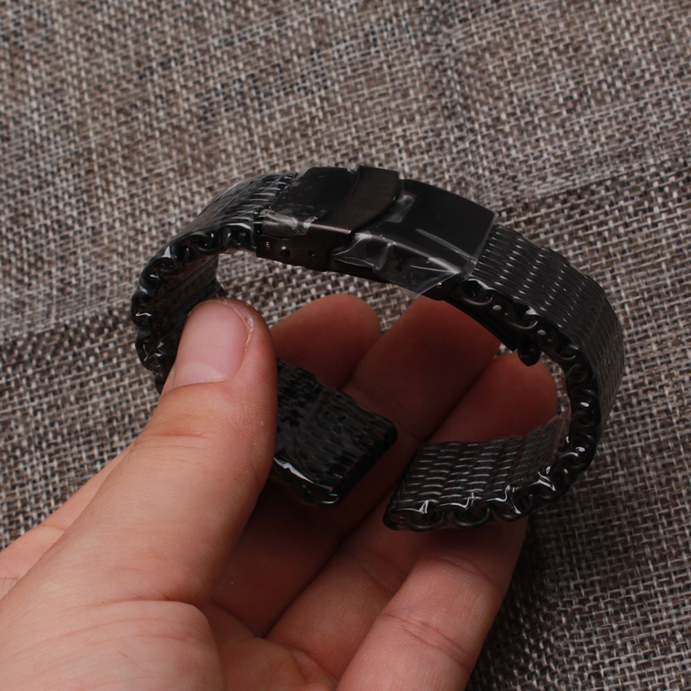 new Watchband stainless steel Watch band For Men mesh accessories 18mm 20mm 22mm 24mm color Steel Bracelet Promotion Replacement stainless steel watch band 18mm 20mm 22mm for baume