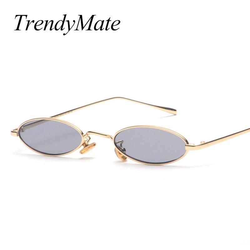 2018 Vintage Rétro Petit Ovale lunettes de Soleil Pour Hommes Femmes Or Métal  Cadre Rose Objectif Clair Lunettes Rondes 90 s lunettes de Soleil 1282 T  dans ... 8a62096a45a0