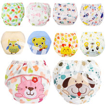 Washable Baby Diapers Reusable Cloth Nappies Waterproof Newborn Cotton Diaper Cover For Children Training Pants Potty Underwear(China)