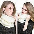 Ihens5 Diseño Forro polar Del Calentador Del Cuello de Punto con Auriculares Bluetooth Inteligente Scraf para Mujeres Niñas Regalos de Navidad