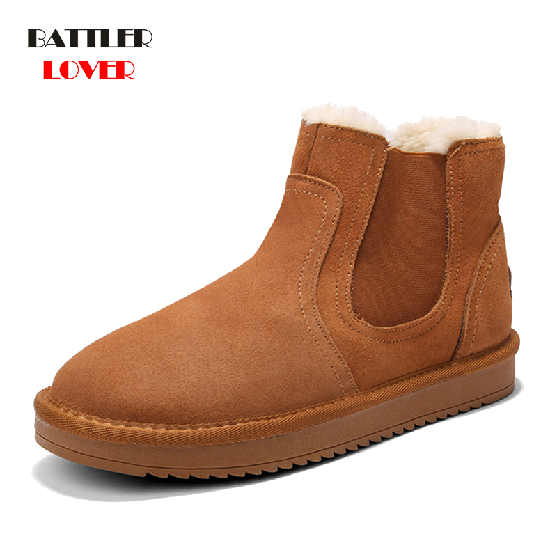 2019 Mens Chelsea Boots Men Winter Shoes Ankle Boots Mens Cow Suede Leather Boots For Men Trendy Autumn Shoes Man Bota Masculina