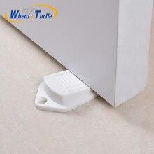 Купить с кэшбэком 2PCS Natural Rubber Door Anti-Collision Pad White Grey Safety Anti-Collision Door Pad Bedroom Door Pad Toilet Collision Door Pad