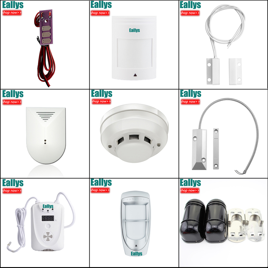 Image 5 - Wireless/wired GSM Voice Home Security Burglar Alarm System Auto Dialing Dialer SMS Call Remote control setting-in Alarm System Kits from Security & Protection