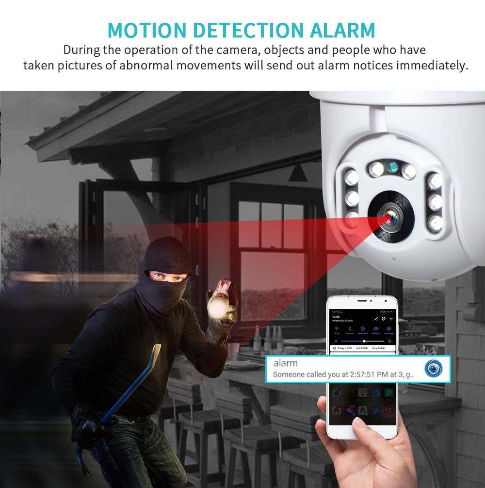 INQMEGA 1080P IP Camera WiFi  Wireless Auto tracking PTZ Speed Dome Camera Outdoor CCTV Security Surveillance Waterproof Camera