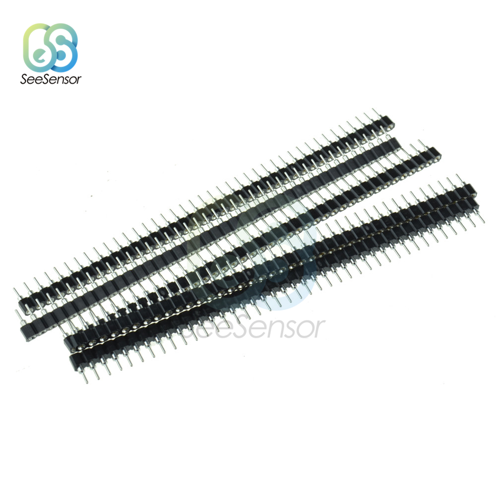 5PCS 40Pin 2.54mm <font><b>Female</b></font> Single Row <font><b>Round</b></font> Straight <font><b>Pin</b></font> <font><b>Header</b></font> Strip Connector For Arduino image