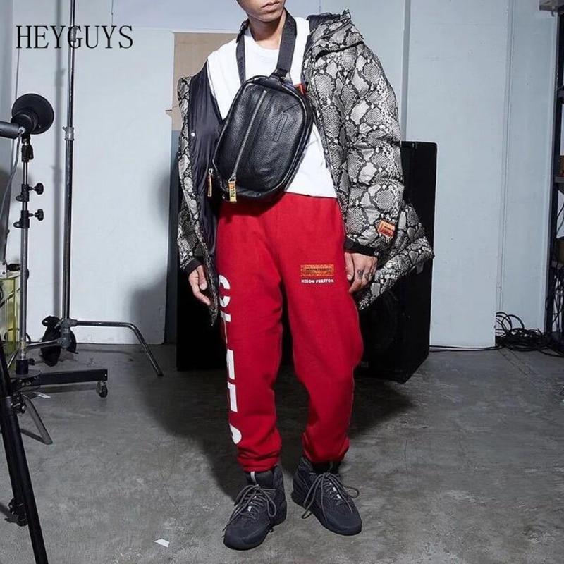 Hiphop Men Jogger-Pants Heron Preston Elastic-Waist Logo 1:1 Embroidery NWE Ctrnb-Printed
