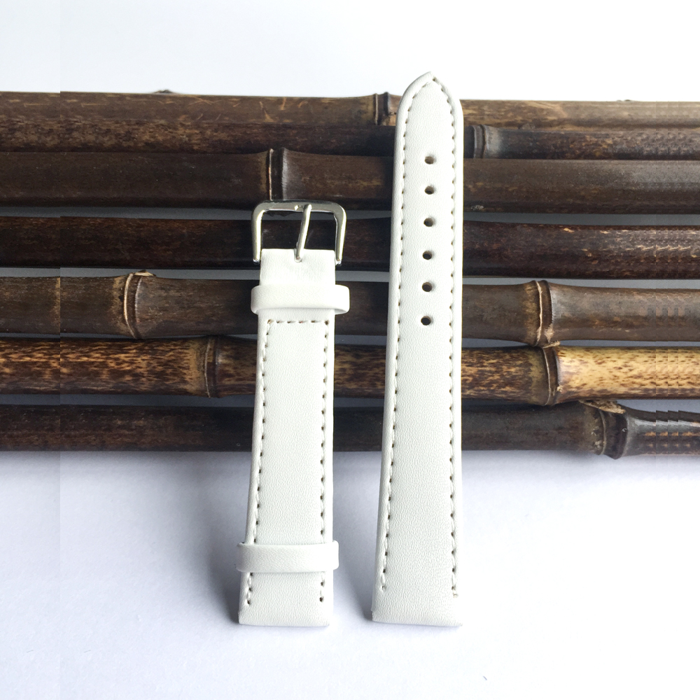 2017 Free shipping 12mm to 24mm white pu leather strap, fine workmanship Straps for watches men, Watchband 22mm men's watches 5pcs different convex bottom brass wrap blackwood planes fine workmanship woodworkingluthier tools