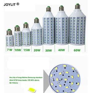 1 шт. DC 12 В AC/DC 12-60 в 7 Вт 10 Вт 15 Вт 20 Вт 30 Вт 40 Вт 60 Вт E27 E14 B22 36 В, светодиодные кукурузные лампы smd 5730, теплый/холодный светильник белый