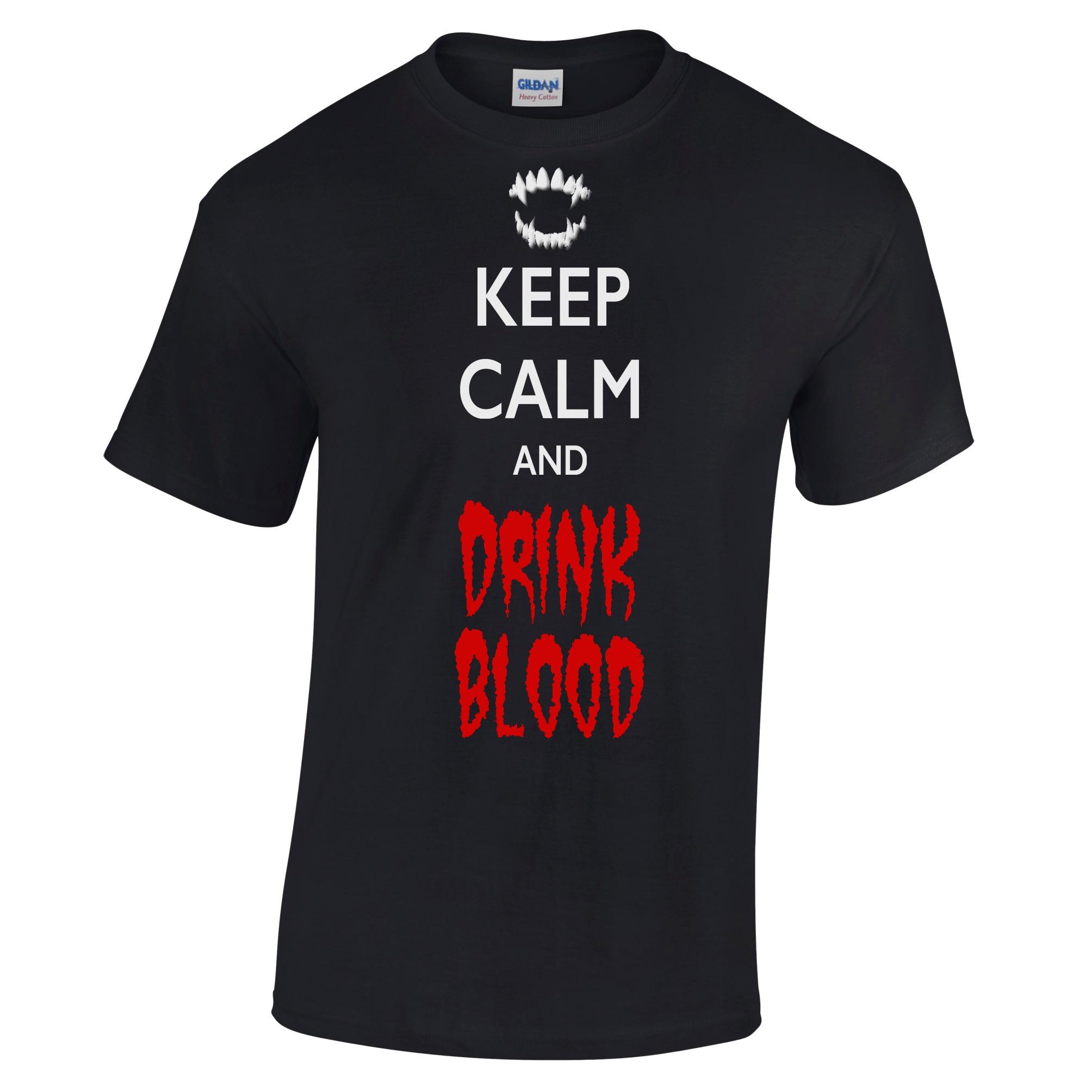 Dress up diary baju pelaut - Tetap Tenang Dan Minum Darah Halloween T Shirt Scary Kostum Lucu Taring Dracula China