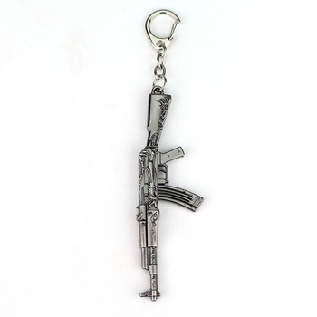 Counter Strike Firearms MINIATURE Automatic Rifle KeyChain CS Shot Gun Sniper Keys Ring Pendant Collection Keychain image