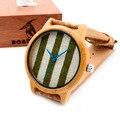 BOBO A29 DO PÁSSARO Design de Luxo Ponteiro Azul Do Vintage Rodada Relógios De Madeira Com Tecido de Bambu Das Senhoras Discagem Mulheres Relógios Marca de Topo