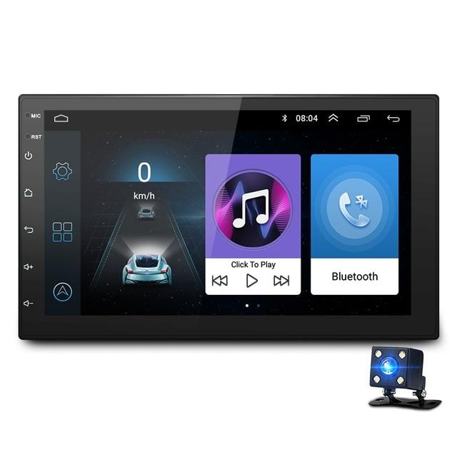 7 นิ้ว Android8.1 2 Din รถ DVD วิทยุเครื่องเล่นมัลติมีเดียระบบนำทาง GPS สำหรับ Nissan peugeot toyota doble din Autoradio