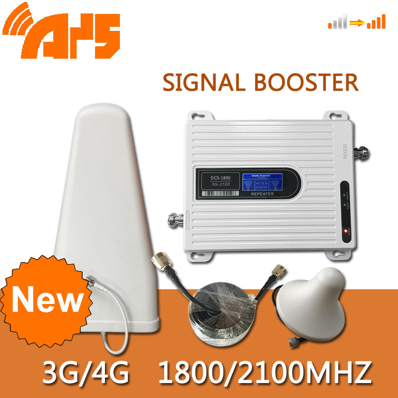 1800 2100 Mhz Dual Band Signla Booster  3G 4G LTE 1800 70dB Mobile Phone Amplifier Cell Phone Repeater DCS WCDMA