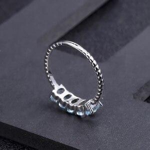 Image 4 - GEMS BALLETT Klassische 1,47 ct Oval Natürliche Sky Blue Topaz Stapelbar Finger Ring Für Frauen Hochzeit 925 Sterling Silber Feine schmuck