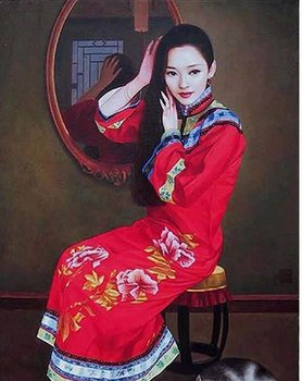 Free Shipping high quality traditional chinese painting woman