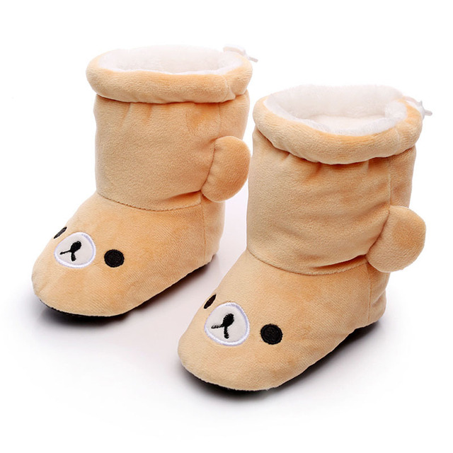 0-12 meses de bebé en invierno para zapatos lindos animales