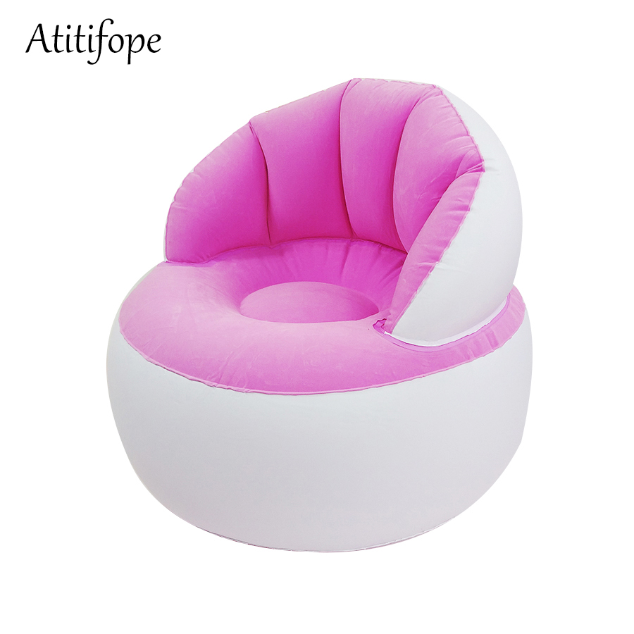 Inflatable Sofa High Quality Sponge Bob's Shape  Children's Inflatable Chair Kid's Feeding Reading Chair