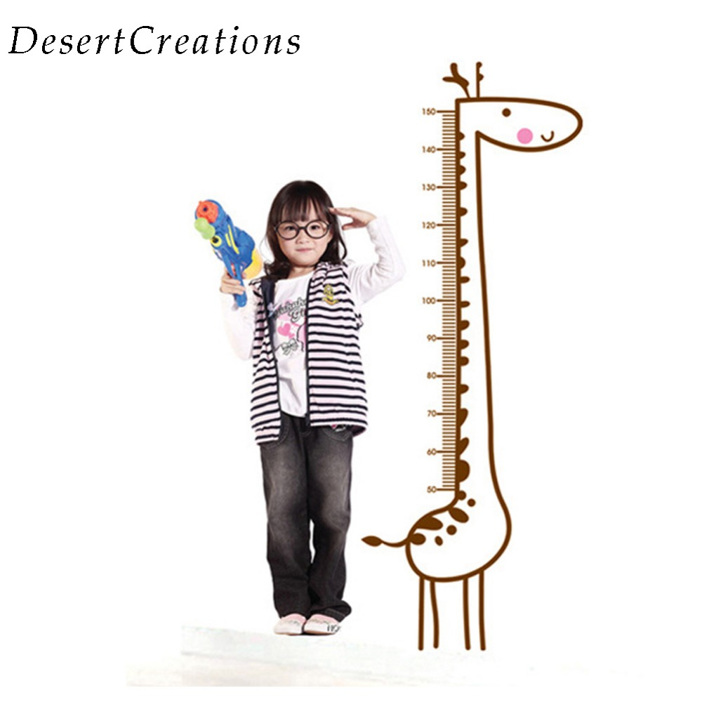 New lovely giraffe kids growth chart wall paper height measure kids new lovely giraffe kids growth chart wall paper height measure kids rooms diy home decoration wall stickers wallpaper in wall stickers from home garden on geenschuldenfo Image collections