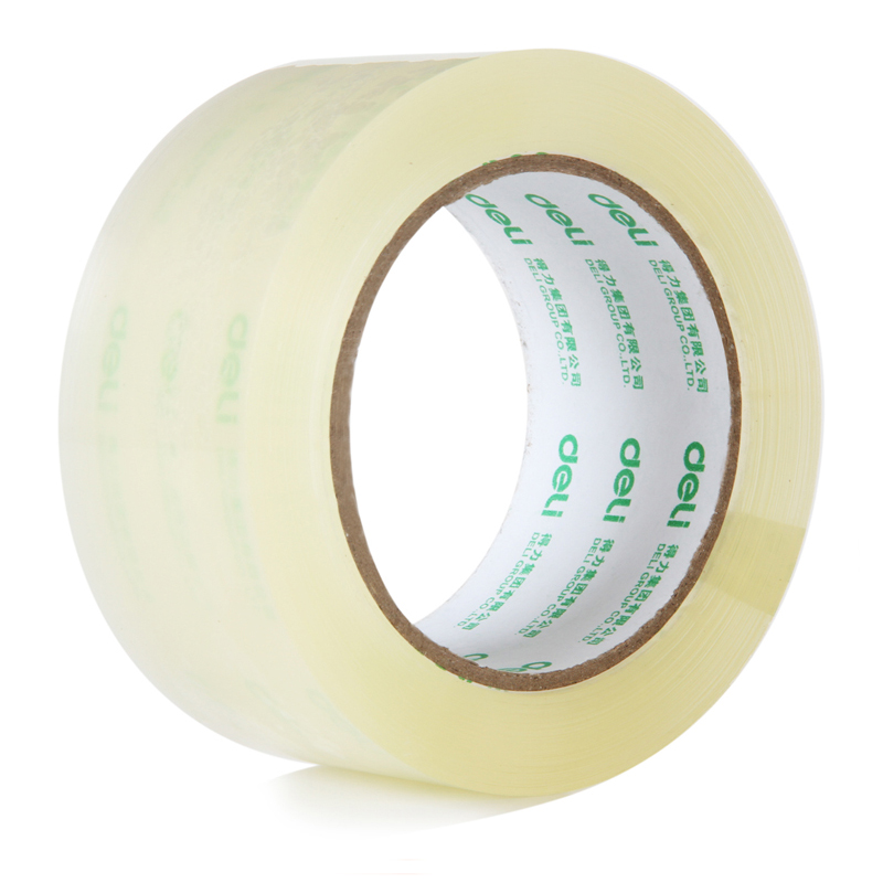 1 Pcs 60mm x 100y / 60mm x 91.4m Packing Sale Quality Transparent Adhesive Tape Pack Tools Office School Supplies fiber adhesive tape fixed viscose for packing bundling milky white 26m x 36mm
