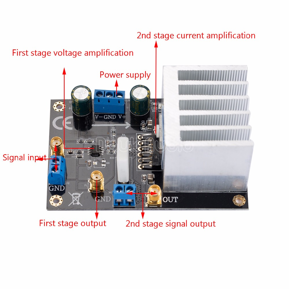 Opa541 Audio Hifi Amp Module Power Amplifier Board High Voltage To Be Current Amplified By The Following Circuit 5a In Operational Chips From Consumer Electronics On