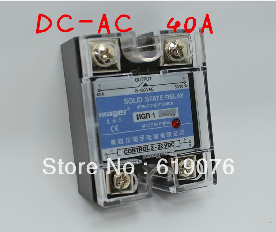 Mager  SSR 40A  DC-AC Solid state relay  Quality Goods  MGR-1 D4840 smart electronics original solid state relay g3mb 202p dc ac pcb ssr in 5vdc out 240v ac 2a