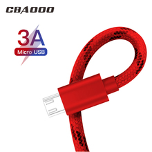 CBAOOO 2PCS 3M Micro USB Cable Quick Charger Mini Phone QC3.0 3A Charging Data Cord Power Bank Mobile Cables