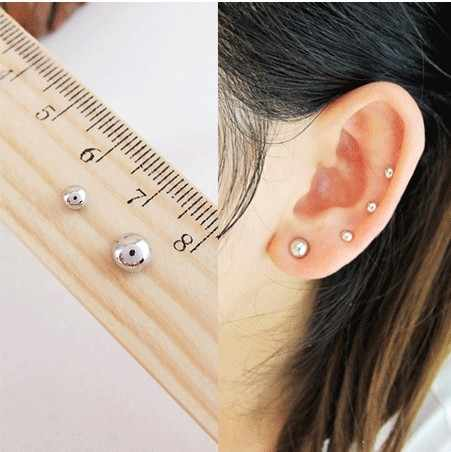 3MM 6 MM Mini l no pierced magnet stud earring magnetic earrings cool  earrings free shipping e4863a534572