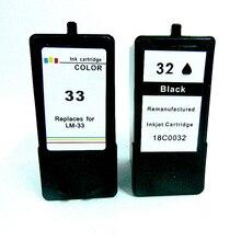 лучшая цена Vilaxh Replacement Ink Cartridge for Lexmark 32 33 Printer P315 P450 P915 P4330 P4350 P6210 P6250 X3350 X5250 X5270 X7170 X7300
