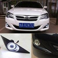 Ownsun Superb 55 Вт галогенные лампы COB противотуманный светильник Ангел глаз бампер крышка для Toyota Corolla EX 2013