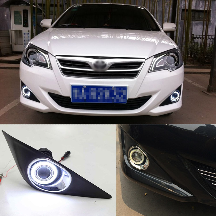 Superb 55W Halogen Bulbs COB Fog Lights  Source Angel Eye Bumper Cover For Toyota Corolla EX 2013 brand new superb led cob angel eyes hid lamp projector lens foglights for toyota corolla ex 2013